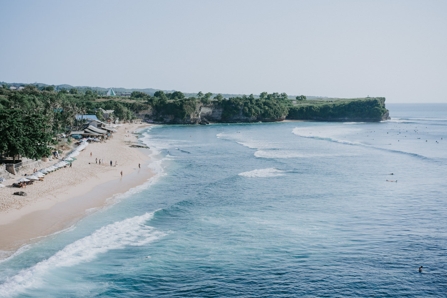 Balangan beach from the cliff view