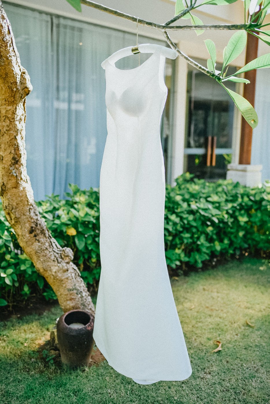 wedding gown of the bride