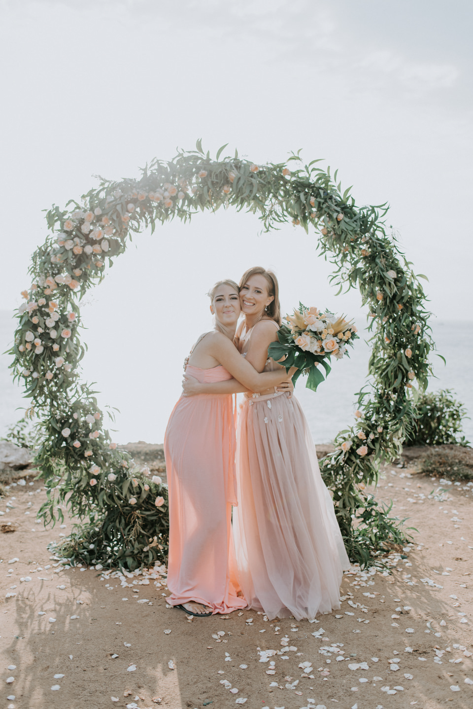 The bride with the bride to be