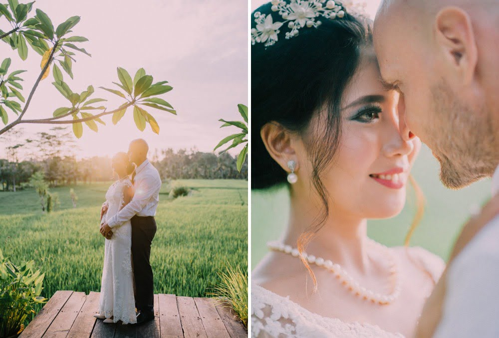 The bride and groom portrait