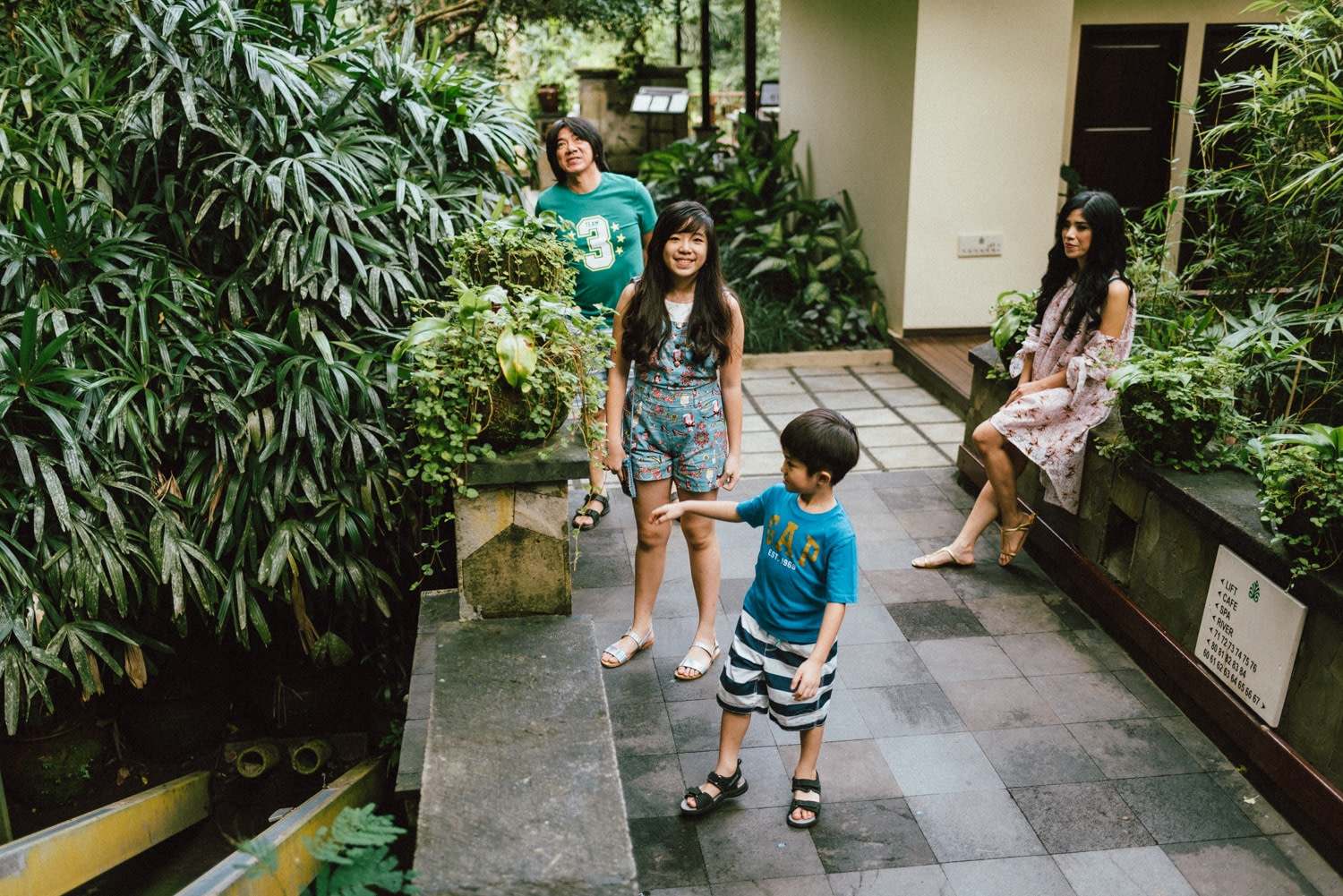 Family Portrait in Hanging Garden of Bali — Michael & Coco