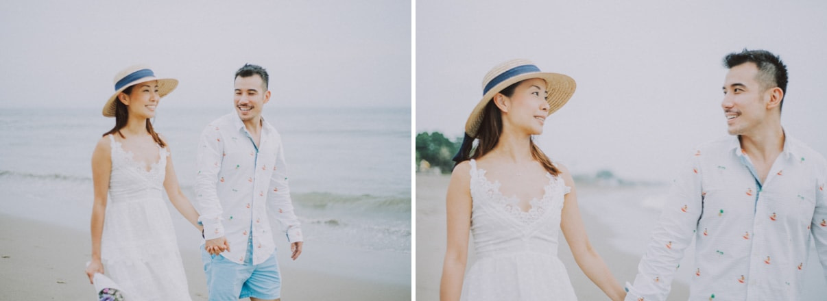 beach engagement photo in bali