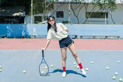 Amazing Portrait Photo of Angel in Tennis Court