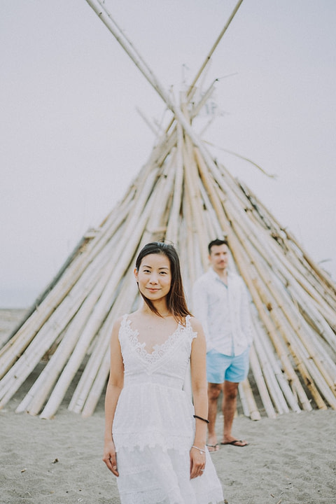 Beach  Engagement Photo in Bali — Eunice & Jo