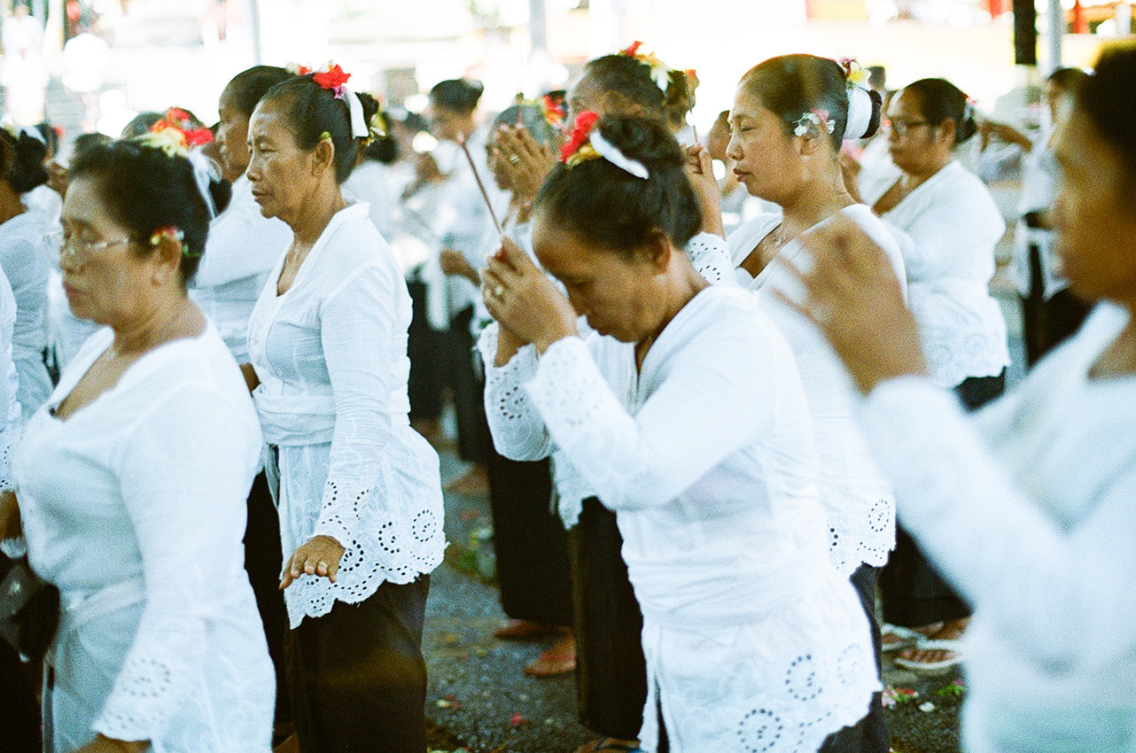 Film Photograph of the ladies doing the ritual.
