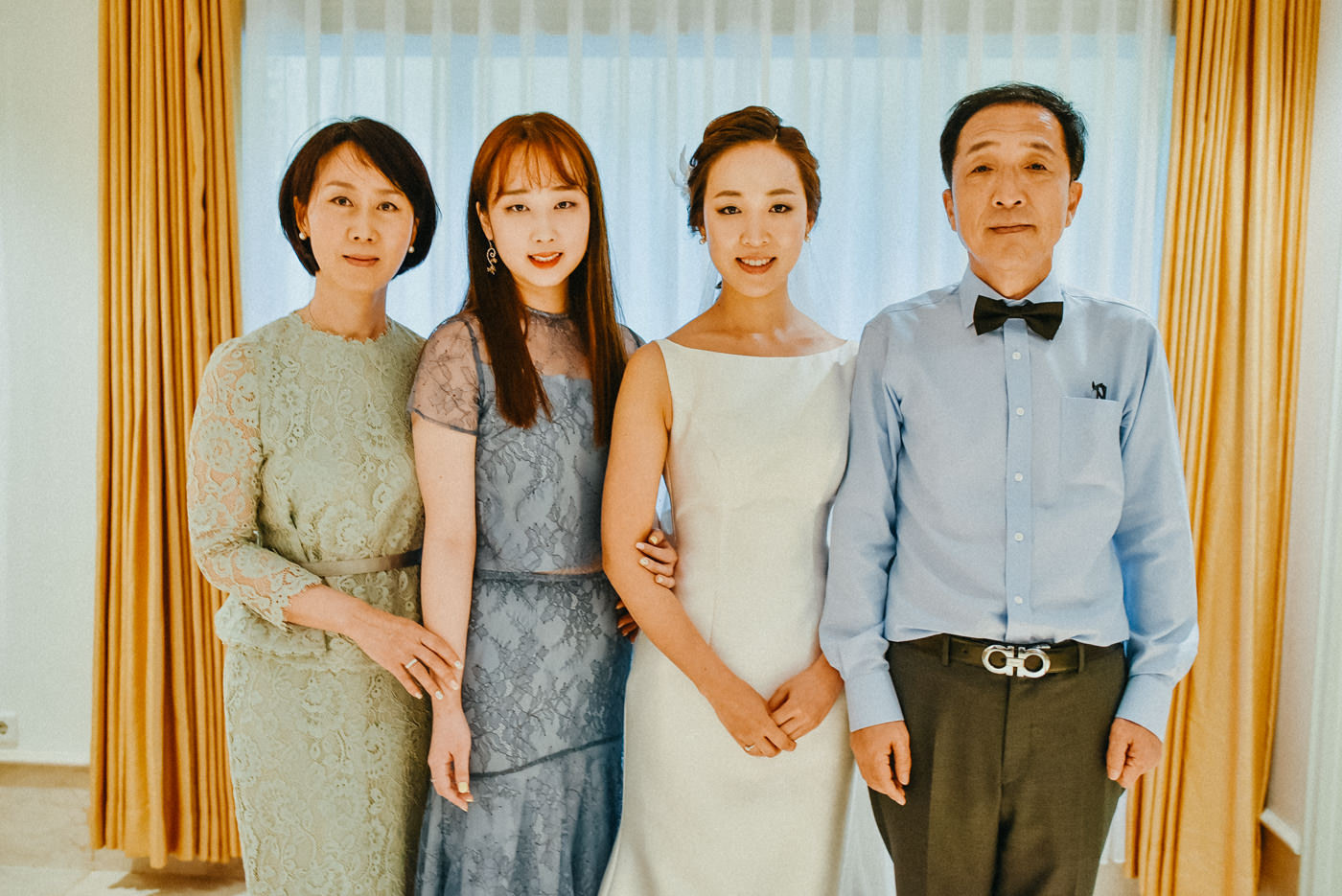 the bride and family group portrait