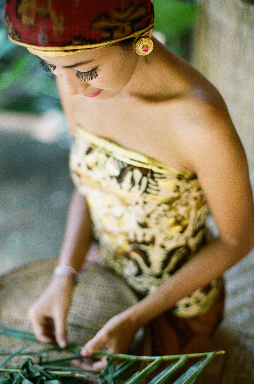 film photography portrait of balinese girl
